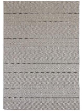 Herringbone striped rug.
