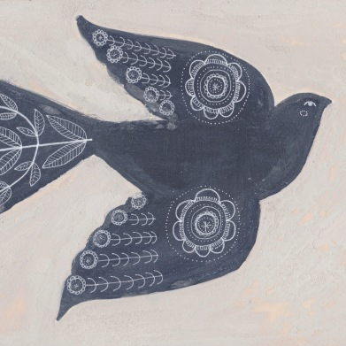 Folk Bird Illustration by Johnston